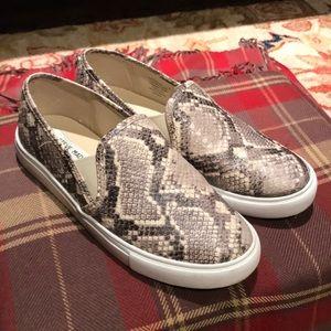 Steve Madden snake print slip on sneakers